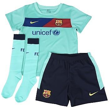 c08973fcc16b9 Futbalový dres Futbalová sada Barcelona hosťovská (deti do 3 rokov ...