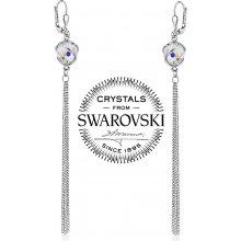 Silvego strieborné náušnice retiazkové so Swarovski Crystals B32559AB 3587337597a