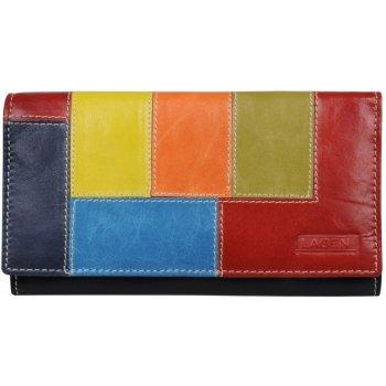 Lagen dámská viacfarebná kožená peňaženka black 61499