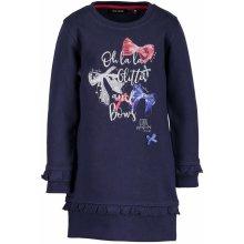 Blue Seven Dievčenské šaty s mašličkami modré