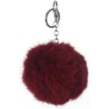 Prívesok na kľúče a kabelku Hnedý chlpatý Pom Pom faecc0db605