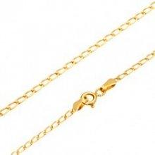 Šperky eshop Retiazka v žltom zlate lesklé ploché oválne očká GG170.02