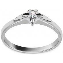 e2b20bf94 iZlato Forever Zásnubný prsteň z bieleho zlata s diamantom 0.040 ct  kolekcia Always BSBR012AM