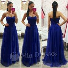 Dlhé spoločenské šaty modrá Top6 e3517ea3231