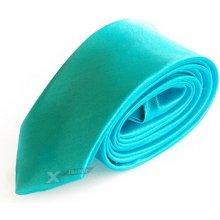 Wayfarer Saténová kravata tyrkysová 879