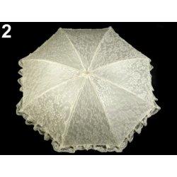 88c478bfc Svadobný dáždnik s čipkou champagne od 23,35 € - Heureka.sk