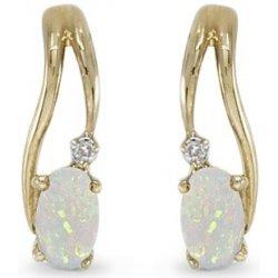 d95605ab4 Klenota zlaté opálové náušnice s diamantmi k0141103 alternatívy ...