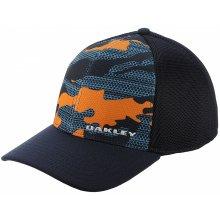 e410d731e OAKLEY Silicon Bark Trucker Print 2.0 Neon Orange Modro-oranžová