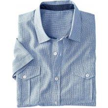 3b35777d4ca7 Blancheporte Jednofarebná košeľa s krátkymi rukávmi nebeská modrá