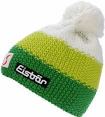 68922ea7f Eisbär zimná čiapka Star Neon Pompon MÜ SP Kids 17/18 Žlto bielo zelená  biela