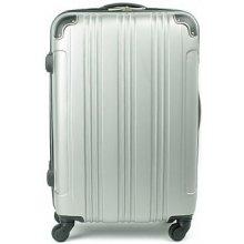 Suitcase 1183 cestovný kufor malý 38x23x57 cm Stříbrná