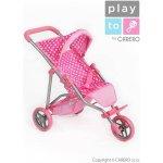 Športový kočík pre bábiky PlayTo Olivie, svetloružový