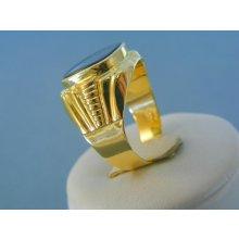 2e054b134 MARM Design Zlatý pánsky prsteň žlté zlato kameň onyx vzorovaný VP66805Z 14  karátov 585/1000