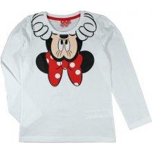 E plus M Dievčenské tričko Minnie - biele