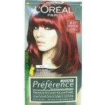 L'Oréal Préférence Féria P37 intenzívna tmavá červená farba na vlásie