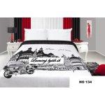 Mariall Prehoz na posteľ NO134 biela a čierna 170x210cm