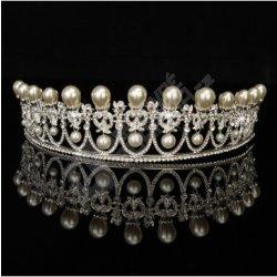 Svatební korunka s umělými perlami alternatívy - Heureka.sk b6b73ddd01