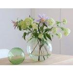 COOEE Design Guľatá sklenená váza Ball Glass Green 15 cm