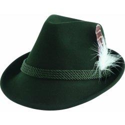 2193d81c0 Alpenflüstern Krojový klobúk dámsky s odnímateľnými pierkami zelená ...