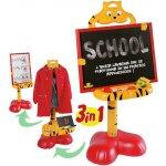 Detská tabuľa School cat 3v1 Faro