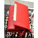 Dámska kožená peňaženka červená - strieborné kovanie menšia