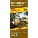 PublicPress Wanderkarte Rheinsteig 1, Bonn - Lahnstein, 21 Teilktn.
