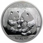 Panda Stříbrná mince 10 Yuan China 1 Oz 2009