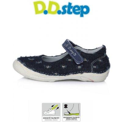 D.D.step detské dievčenské plátené balerínky C046-85