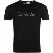 Calvin Klein Sleepwear Logo Crew T Shirt Black de6c7f6b952