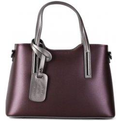 ec98ad0c00 talianske kožené kabelky na rameno Carina fialové so striebornou ...