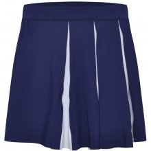 Colmar skirt with flounces on the side prussian blue white