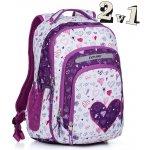 Explore batoh 2 v 1 Girls biela Purple Hearts