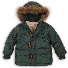 Minoti Cross 10 bunda chlapčenská zimná Parka Puffa nylonová, prešívaná khaki 2/3let