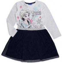d4b2cad7d2df E plus M dievčenské šaty Frozen bielo modré