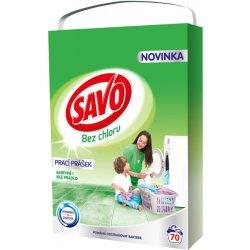 2e9f18fb9 Savo Universal bez chlóru prášok na farebné a biele prádlo 70 pranie ...