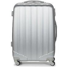 David Jones Pevné cestovné kufre CHAUVETTA 64L Strieborná
