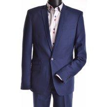 Oblek s modrým stehom modrá