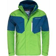 zimní bunda pánská Columbia Alpine Action jacket Cyber green Phoenix blue f2c275199c8