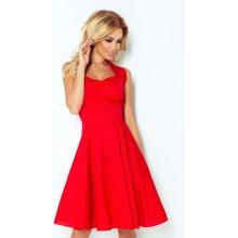580051faf2d1 Červené rockabilly pin up šaty s gombíkmi 30-18