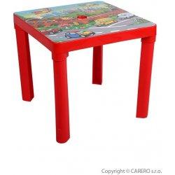bb05a1fbaeca5 STAR PLUS Detský záhradný nábytok - Plastový stôl červený od 8,65 ...