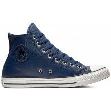 Converse tmavo modré kožené unisex tenisky Chuck Taylor All Star Hi Navy f038c187030