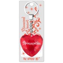 Prívesok na kľúče srdce s nápisom Princeznička