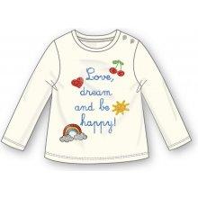 Mix 'n Match Dievčenské tričko s nápisom - biele
