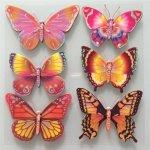 IMPOL TRADE 3D samolepky na stenu detské motýle 3D005 30 x 30 cm