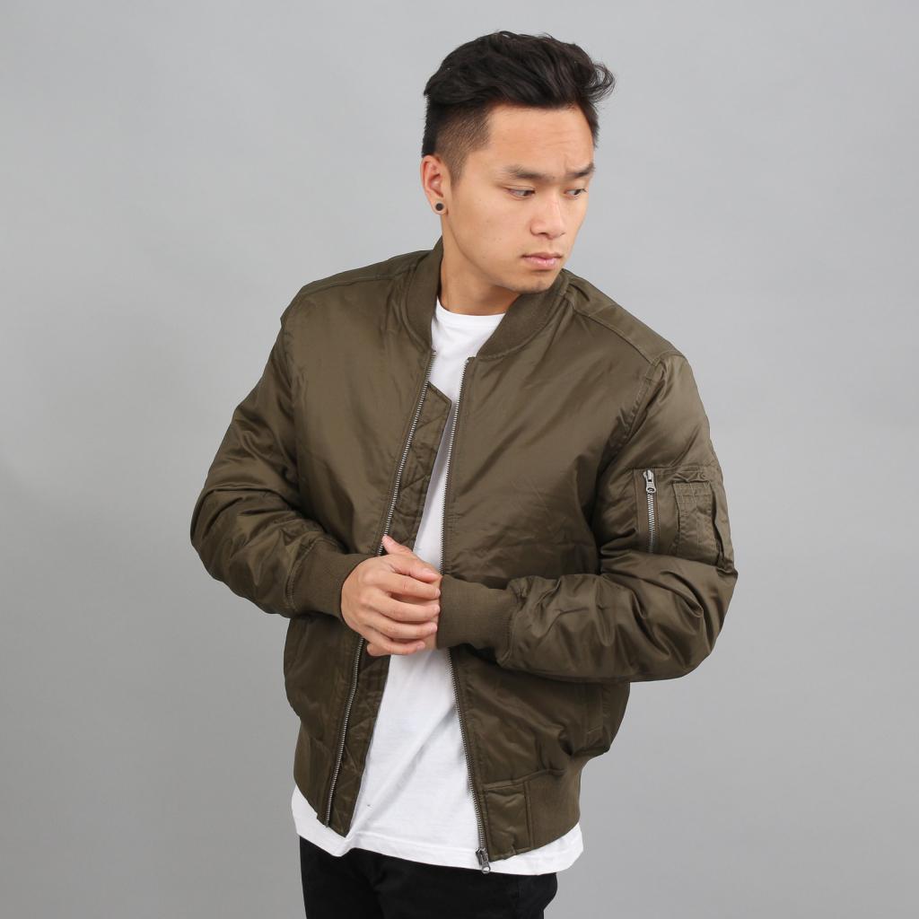 Pánska bunda Urban Classics Basic bomber jacket darkolive ... b468f128842