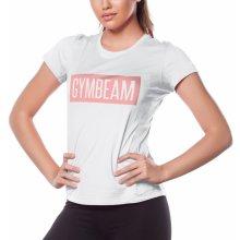 krátky rukáv · Len na sklade · GymBeam Dámske tričko Box Logo Light White  Pink white f88559e9558