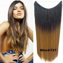 Flip in vlasy - 55 cm dlhý pás vlasov - odtieň Black T 27