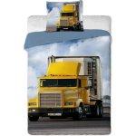 Jerry fabrics Obliečky Kamion 2015 žltý bavlna 140x200 70x90