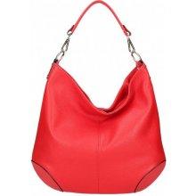 d1103a5813 dámska kožená kabelka na rameno 5308 červená