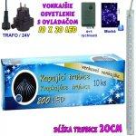 LED Vianočné osvetlenie 20x10 kvapkajúce trubice modrá